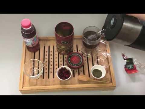 """Рецепт чайного напитка с клюквой и мятой от """"Тянь Жень"""""""