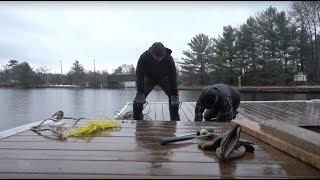 Preparing Floating Dock for Winter