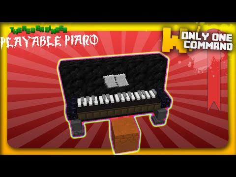 Playable Piano with only 2 command blocks Minecraft Project