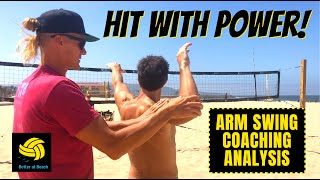 Coaching Volleyball | AVP Coach Teaches Players How To Spike A Volleyball With Good Biomechanics