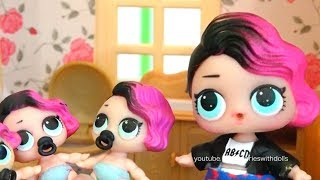 L.O.L. Dolls Toys for Kids - Rocker's Lil Sisters Get in Trouble - Learn Colors With Magic Popcorn