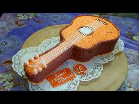 Идея торта в виде гитары