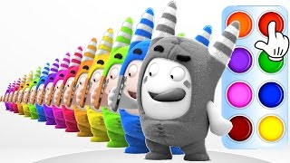 Learn Color with Oddbods Pogo - Learning Flash Colors Compilation for Baby Toddler Kid and Children