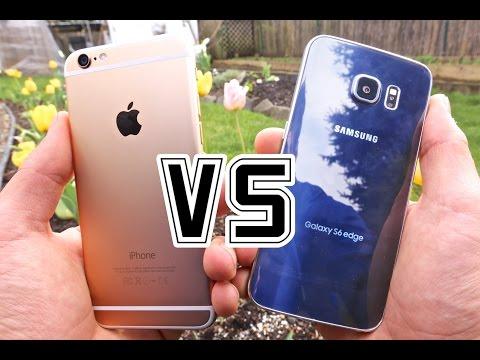 Samsung Galaxy S6 Edge vs. iPhone 6