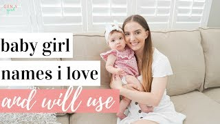 BABY GIRL NAMES I LOVE AND WILL USE 👶�💕🎀 | 5 Unique Baby Girl Names | Kayla Buell
