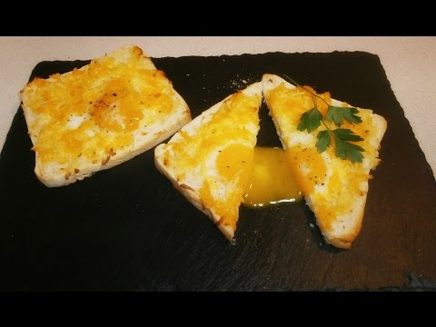 Tostadas de huevo y queso