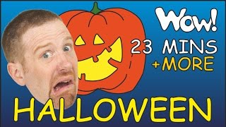 Halloween Songs + MORE Stories for Kids   English for Children   Steve and Maggie