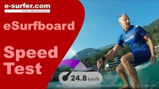 Waterwolf Electric Surfboard Speed Test