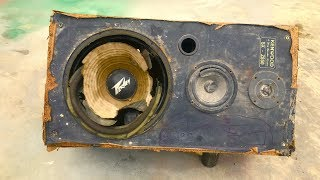 Kenwood speaker restoration | Restore and reuse old Japanese kenwood speakers