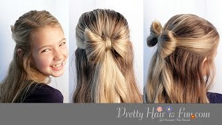 CUTE HAIR BOW 🎀 HAIRSTYLE TUTORIAL!!