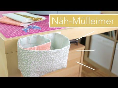 Magnetischen Näh-Mülleimer selber nähen mit kostenlosem Schnittmuster