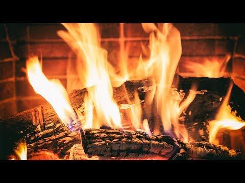 Kaminfeuer zum Einschlafen - Entspannendes Kaminknistern an einer Feuerstelle