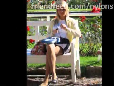 Frauen und Feinstrumpfhosen - Faszinierende Damenbeine