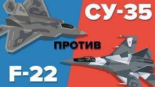 US F-22 против российского истребителя Су-35 - кто выиграет? - Военное сравнение