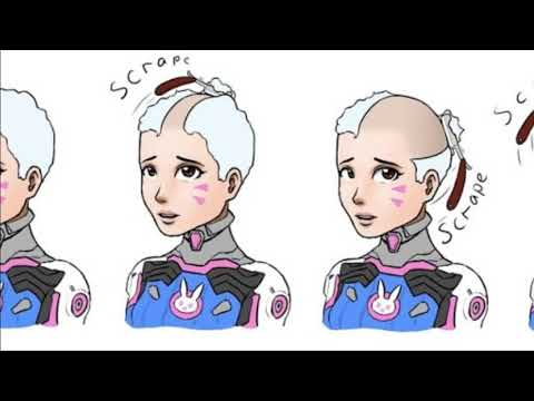 Anime girl headshave 11