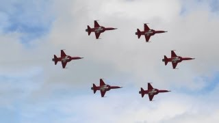 The Patrouille Suisse Swiss Air Force RIAT 2012