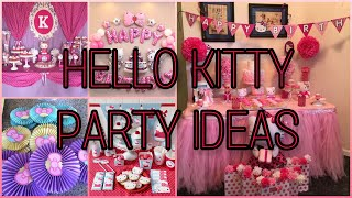 HELLO KITTY PARTY IDEAS | PARTY IDEAS FOR GIRLS | DIY PINK THEME