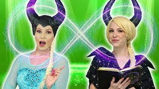 ELSA AND MALEFICENT SWITCH PLACES. What Happens when a Spell is on Elsa and Maleficent.