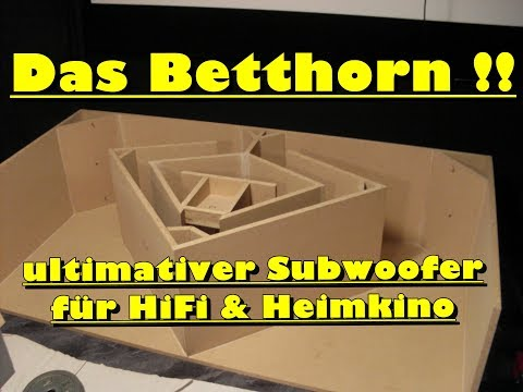 Das Betthorn - ultimativer Subwoofer für HiFi & Heimkino