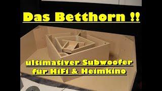 Das Betthorn - ultimativer Subwoofer für HiFi & Heimkino