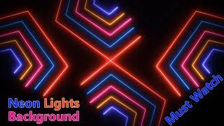 neon lights animation background video, Neon lights animation template, neon background effect
