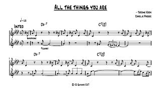 Charlie Parker  - All the Things You Are - Full transcription