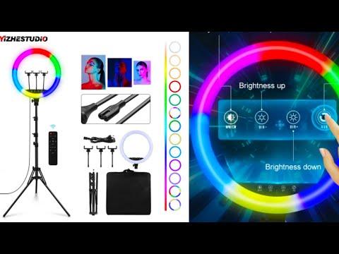 Кольцевая RGB лампа Yizhestudio для видеосъемки влога и стримов