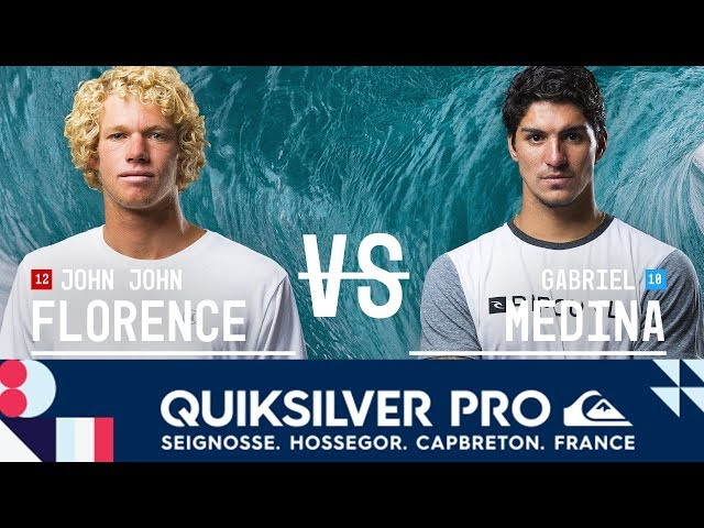 John John Florence vs. Gabriel Medina - Semifinals, Heat 2 - Quiksilver Pro France 2017