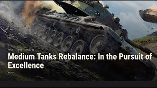 WOT - Wargaming is Re-balancing Tanks In The Pursuit Of Excellence | World of Tanks