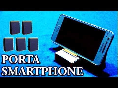 Como fazer um Suporte para Smartphone com caixa de fósforo