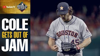 Astros' Gerrit Cole gets out of 2nd Inning jam with NASTY pitches in World Series Game 5