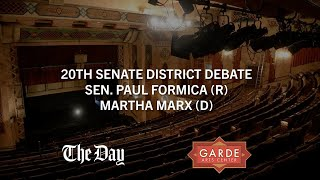 CT 20th Senate District Debate - Sen. Paul Formica (R) and Martha Marx (D)