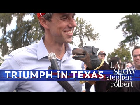 Triumph The Insult Comic Dog Meets Beto And Cruz - The Late Show with Stephen Colbert