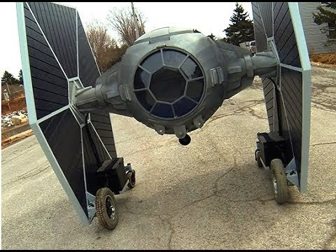 Driving Down the Road in a Star Wars TIE Fighter