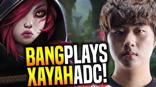 Bang Plays New Champion Xayah! - SKT T1 Bang SoloQ Playing Xayah ADC | SKT T1 Replays