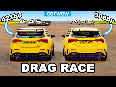 AMG A45 S v AMG A35 - DRAG RACE *worth the extra £12K?*