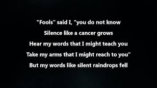 Disturbed   The Sound Of Silence [Lyrics Video]