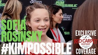 Sofia Rosinsky #FastLayne interviewed at the #DisneyChannel #KimPossible Movie Premiere