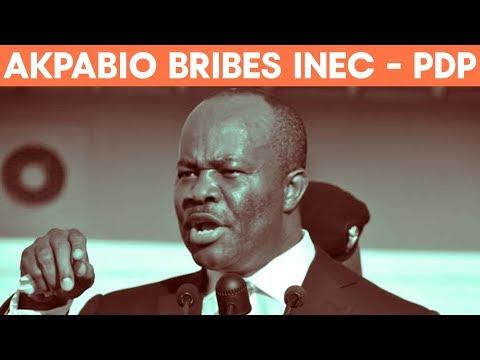 PDP Publishes Akpabio's Bribery Video