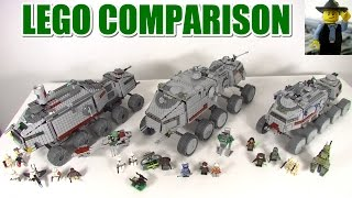 Lego Clone Turbo Tank Comparison - All 3 Special Edition!