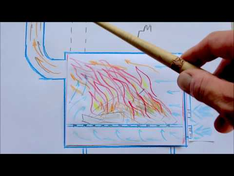 Печь металлическая дровяная - теория горения правила / Metal wood stove - combustion theory rules