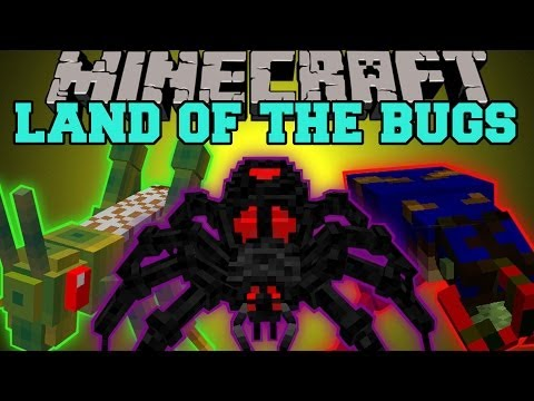 Minecraft: LAND OF THE BUGS (EVIL BUG DIMENSION!) Erebus Mod Showcase
