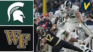 Michigan State vs Wake Forest Highlights | 2019 Pinstripe Bowl Highlights