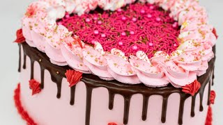 DIY Valentines Heart Cake Tutorial With Whipped Cream