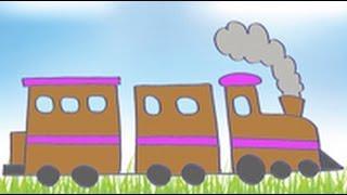 Dibujos de transportes para niños. Cómo dibujar un tren