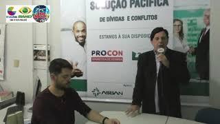 Presidente do PROCON Municipal de Aparecida, Sr. Marinho Rezende, fala sobre parceria com a ASBAN