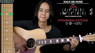 Walk Me Home    Guitar Cover Acoustic Pink 🎸 |Tabs + Chords|