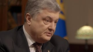 "Ukrainian leader on ""hot war"" with russia"