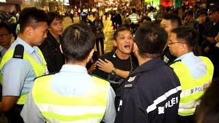 (獨家)單車男旺角遭遇多名警察發生有趣的一幕