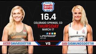 CrossFit Open 16.4 - KATRIN DAVIDSDOTTIR vs SARA SIGMUNDSDOTTIR